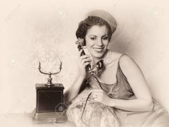 Antique phone call